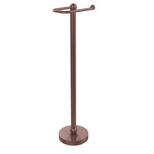 Free Standing Toilet Tissue Holder, Antique Copper