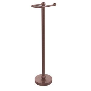 Free Standing Toilet Tissue Holder, Antique Copper