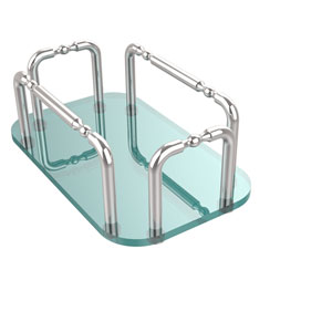 Vanity Top Guest Towel Holder, Polished Chrome