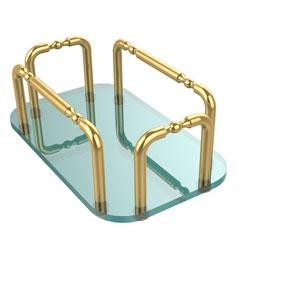 Vanity Top Guest Towel Holder, Unlacquered Brass