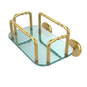Skyline Wall Mounted Guest Towel Holder, Unlacquered Brass