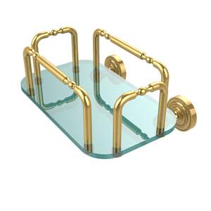 Dottingham Wall Mounted Guest Towel Holder, Polished Brass