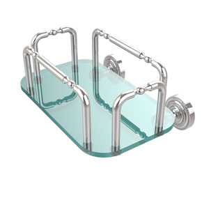 Dottingham Wall Mounted Guest Towel Holder, Polished Chrome