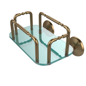 Monte Carlo Wall Mounted Guest Towel Holder, Brushed Bronze