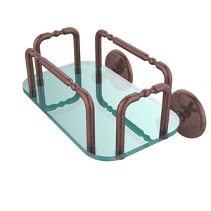 Monte Carlo Wall Mounted Guest Towel Holder, Antique Copper