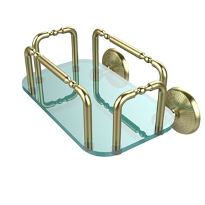 Monte Carlo Wall Mounted Guest Towel Holder, Satin Brass