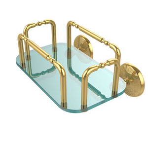 Monte Carlo Wall Mounted Guest Towel Holder, Unlacquered Brass