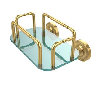Prestige Wall Mounted Guest Towel Holder, Unlacquered Brass