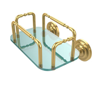 Que New Wall Mounted Guest Towel Holder, Polished Brass