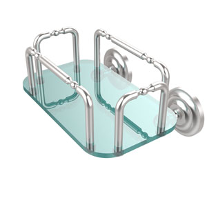 Que New Wall Mounted Guest Towel Holder, Satin Chrome