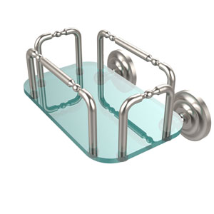 Que New Wall Mounted Guest Towel Holder, Satin Nickel