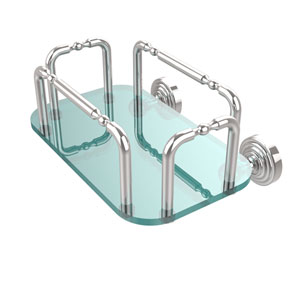 Waverly Place Wall Mounted Guest Towel Holder, Polished Chrome