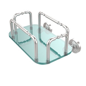 Waverly Place Wall Mounted Guest Towel Holder, Satin Chrome