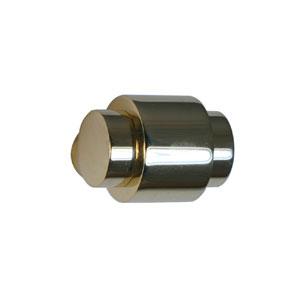 Polished Brass 1-1/8 Inch Knob