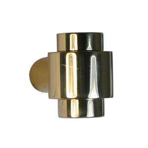 Polished Brass Knob 1-1/8 Inch