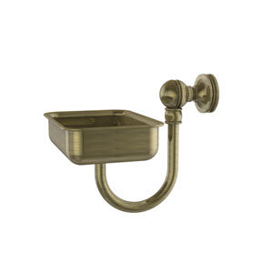 Mambo Collection Wall Mounted Soap Dish, Antique Brass