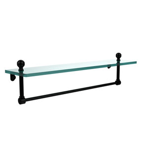 Matte Black 22 Inch Single Shelf with Towel Bar