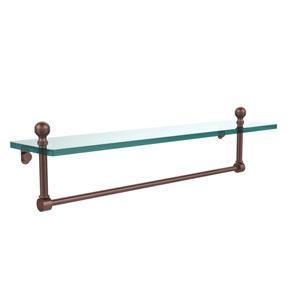 Antique Copper 22 Inch Single Shelf with Towel Bar
