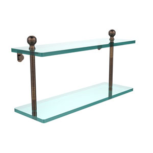 Venetian Bronze 16 x 5 Double 3/8 Glass Shelf