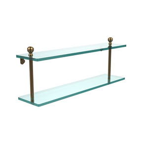 Brushed Bronze 22 x 5 Glass Shelf