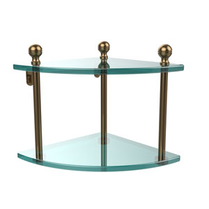 Brushed Bronze Double Corner Shelf
