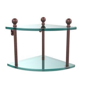Antique Copper Double Corner Shelf