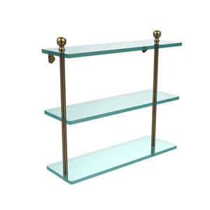 Brushed Bronze 16 x 5 Triple Glass Shelf
