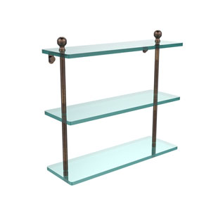 Venetian Bronze 16 x 5 Triple Glass Shelf