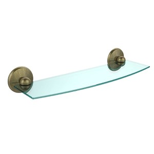 Monte Carlo Antique Brass Single Shelf