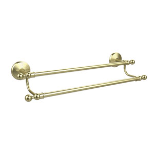 Monte Carlo Collection 18 Inch Double Towel Bar, Satin Brass