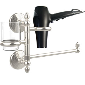 Monte Carlo Collection Hair Dryer Holder and Organizer, Polished Nickel