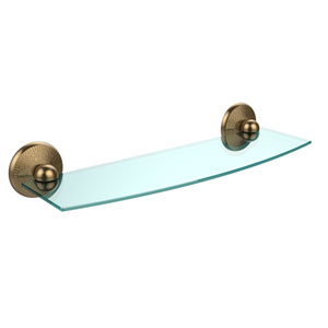 Monte Carlo Brushed Bronze 18 Inch Beveled Glass Shelf