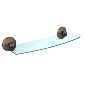 Monte Carlo Venetian Bronze 18 Inch Beveled Glass Shelf
