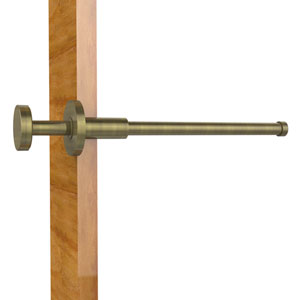 Modern Style Pullout Retractable Garment Rod, Antique Brass