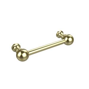 3 Inch Beaded Cabinet Pull, Satin Brass