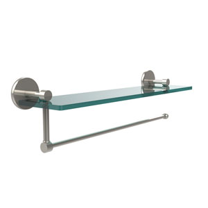 Prestige Skyline Collection Paper Towel Holder with 16 Inch Glass Shelf, Polished Nickel