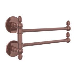 Prestige Skyline Collection 2 Swing Arm Towel Rail, Antique Copper