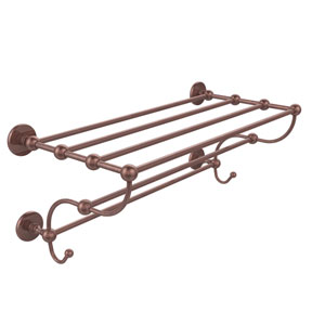 Prestige Skyline Collection 24 Inch Train Rack Towel Shelf, Antique Copper