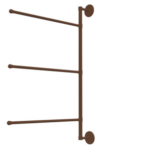 Prestige Skyline Collection 3 Swing Arm Vertical 28 Inch Towel Bar, Antique Bronze