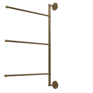 Prestige Skyline Collection 3 Swing Arm Vertical 28 Inch Towel Bar, Brushed Bronze