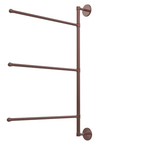 Prestige Skyline Collection 3 Swing Arm Vertical 28 Inch Towel Bar, Antique Copper