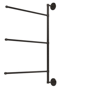 Prestige Skyline Collection 3 Swing Arm Vertical 28 Inch Towel Bar, Oil Rubbed Bronze