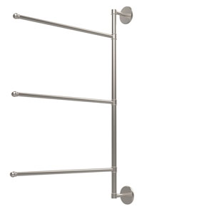 Prestige Skyline Collection 3 Swing Arm Vertical 28 Inch Towel Bar, Satin Nickel