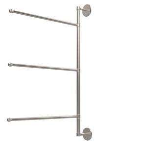 Prestige Skyline Collection 3 Swing Arm Vertical 28 Inch Towel Bar, Satin Nickel
