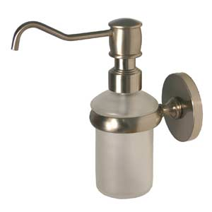 Prestige Skyline Satin Nickel Wall-Mounted Soap Dispenser