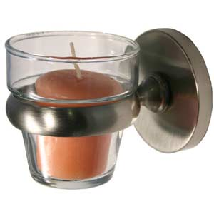Prestige Skyline Satin Nickel Wall-Mounted Votive Candle Holder