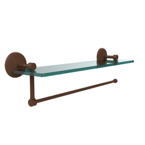 Prestige Monte Carlo Collection Paper Towel Holder with 16 Inch Glass Shelf, Antique Bronze
