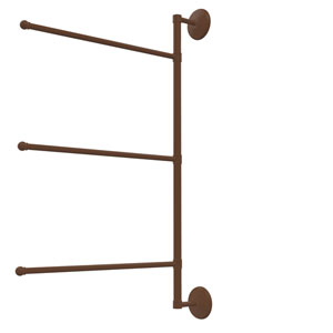 Prestige Monte Carlo Collection 3 Swing Arm Vertical 28 Inch Towel Bar, Antique Bronze