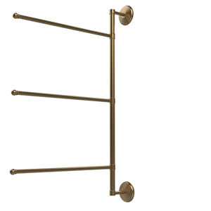 Prestige Monte Carlo Collection 3 Swing Arm Vertical 28 Inch Towel Bar, Brushed Bronze