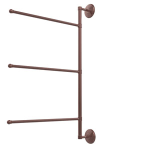 Prestige Monte Carlo Collection 3 Swing Arm Vertical 28 Inch Towel Bar, Antique Copper